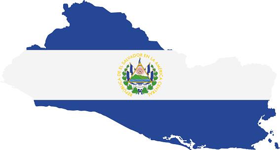 El Salvador flag map
