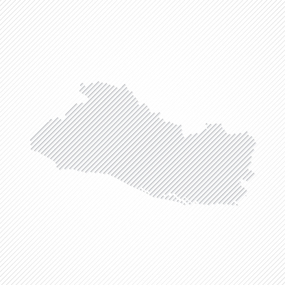 El Salvador map designed with lines on white background