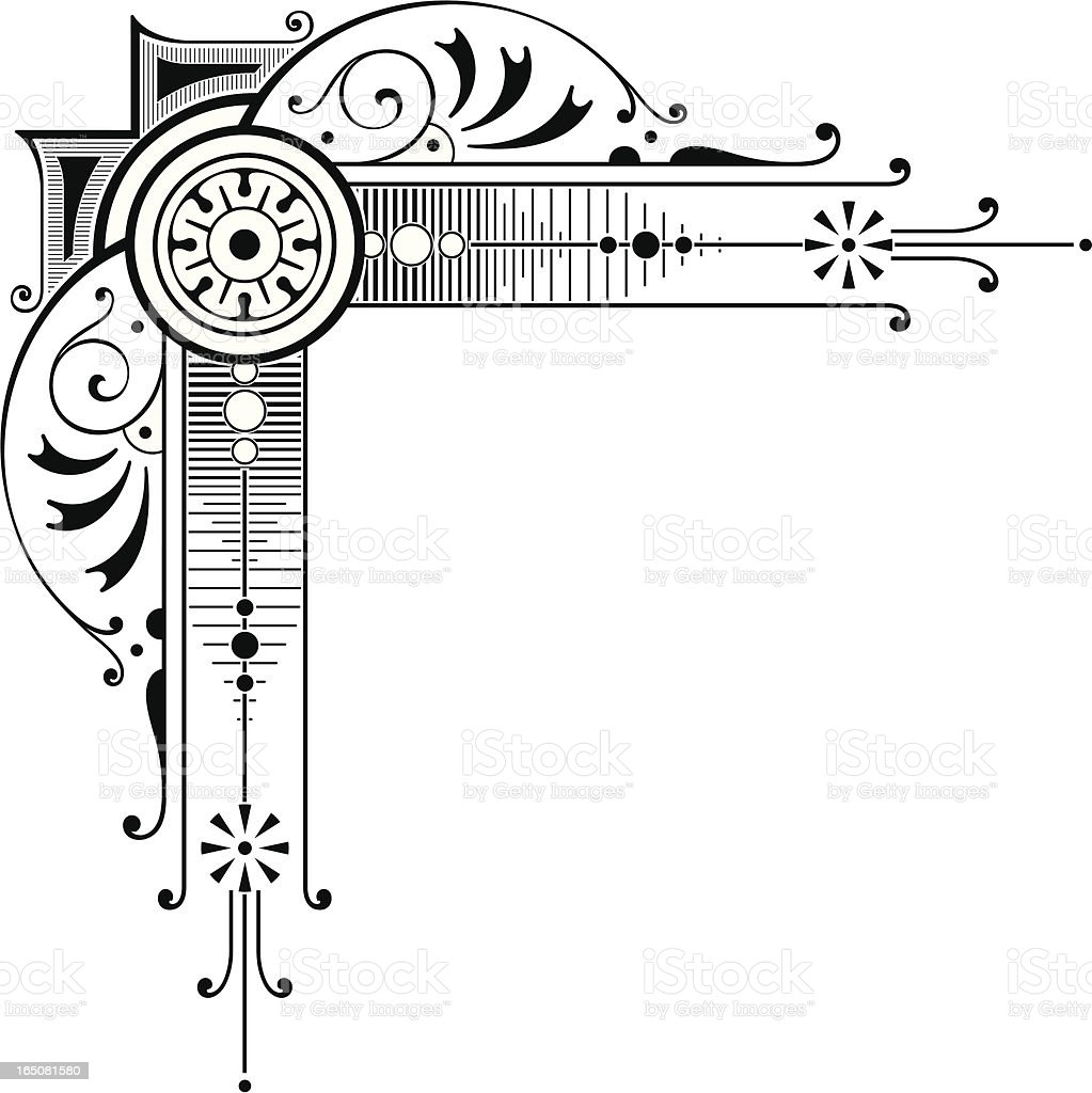 Elaborate Corner Art vector art illustration