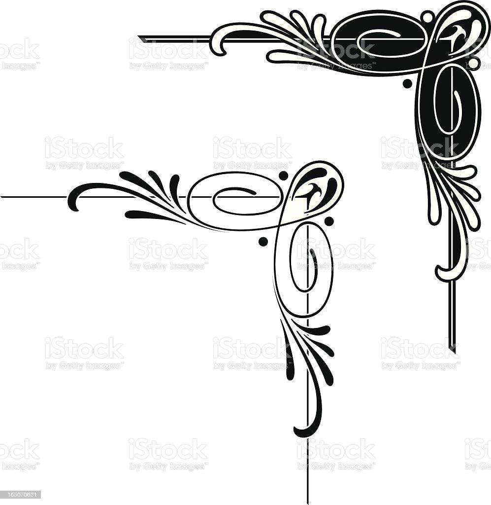 Elaborate Corner Design vector art illustration
