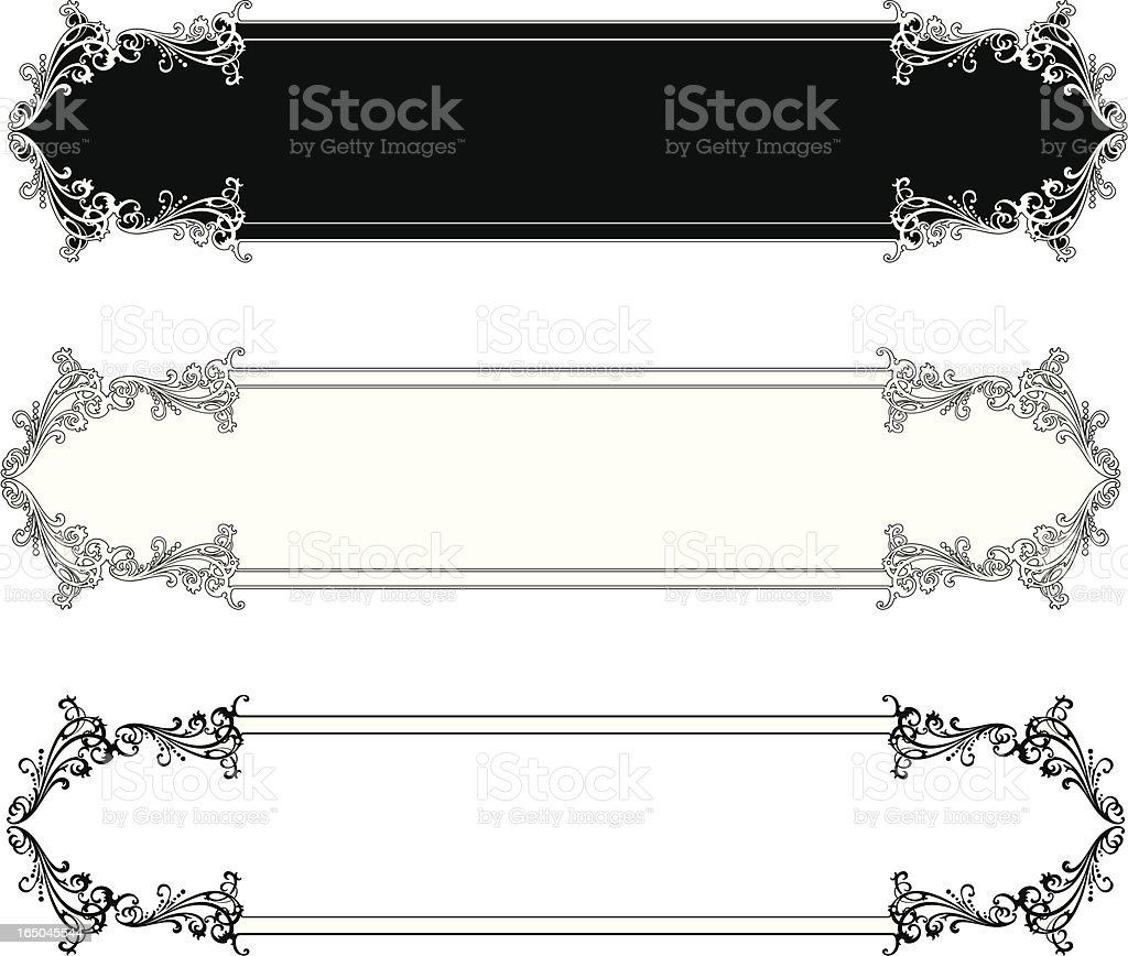 Elaborate Lettering Panels royalty-free stock vector art