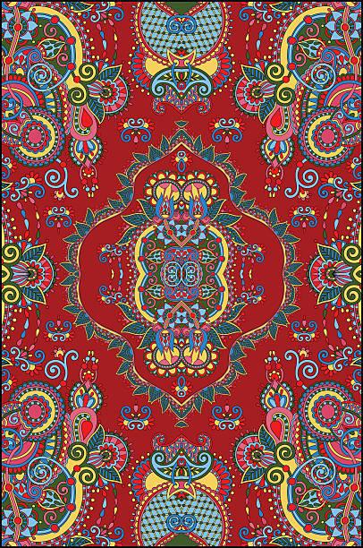 aufwendige original mit einem großen teppich design drucken - wollteppich stock-grafiken, -clipart, -cartoons und -symbole