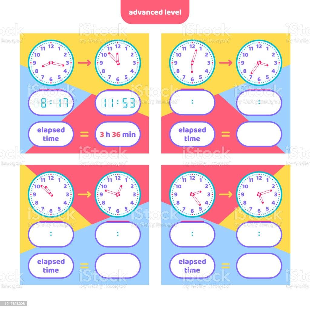 Elapsed Time And Telling Time Worksheet For Kids Understanding ...