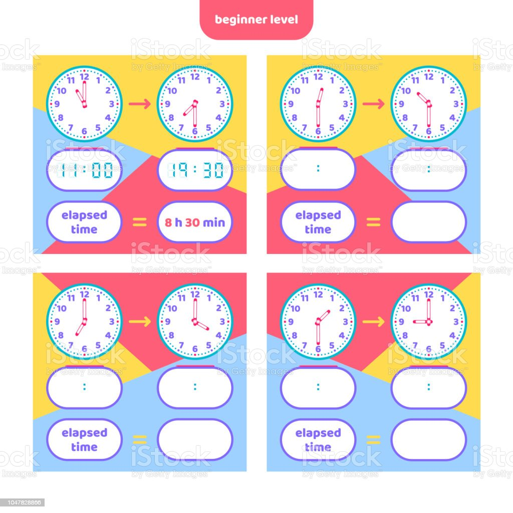photograph about Telling Time Printable Game referred to as Elapsed Year And Telling Year Worksheet For Little ones