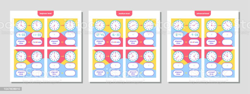Elapsed time and telling time worksheet for kids understanding elapsed time and telling time worksheet for kids understanding analog and digital clocks educational ibookread PDF