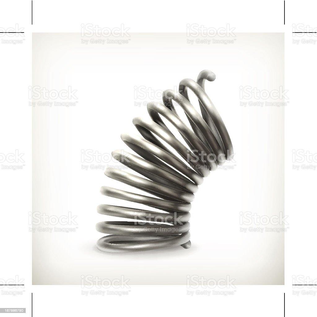 Elastic metal spring vector art illustration