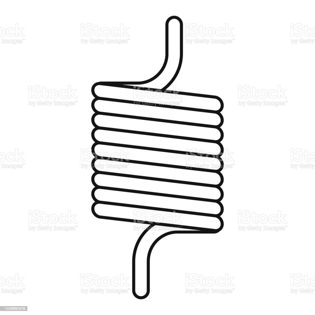 Elastische Feder Draht Symbol Umrissstil Stock Vektor Art und mehr ...