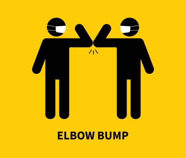 163 Elbow Bump Illustrations & Clip Art - iStock