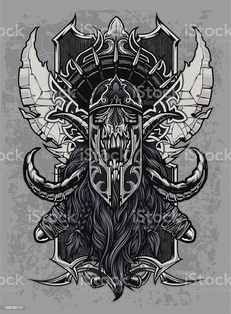 Elder Visigoth Skull royalty-free stock vector art