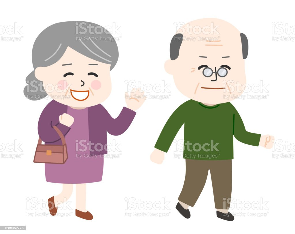 elderly couple going for a walk stock illustration download image now istock elderly couple going for a walk stock illustration download image now istock