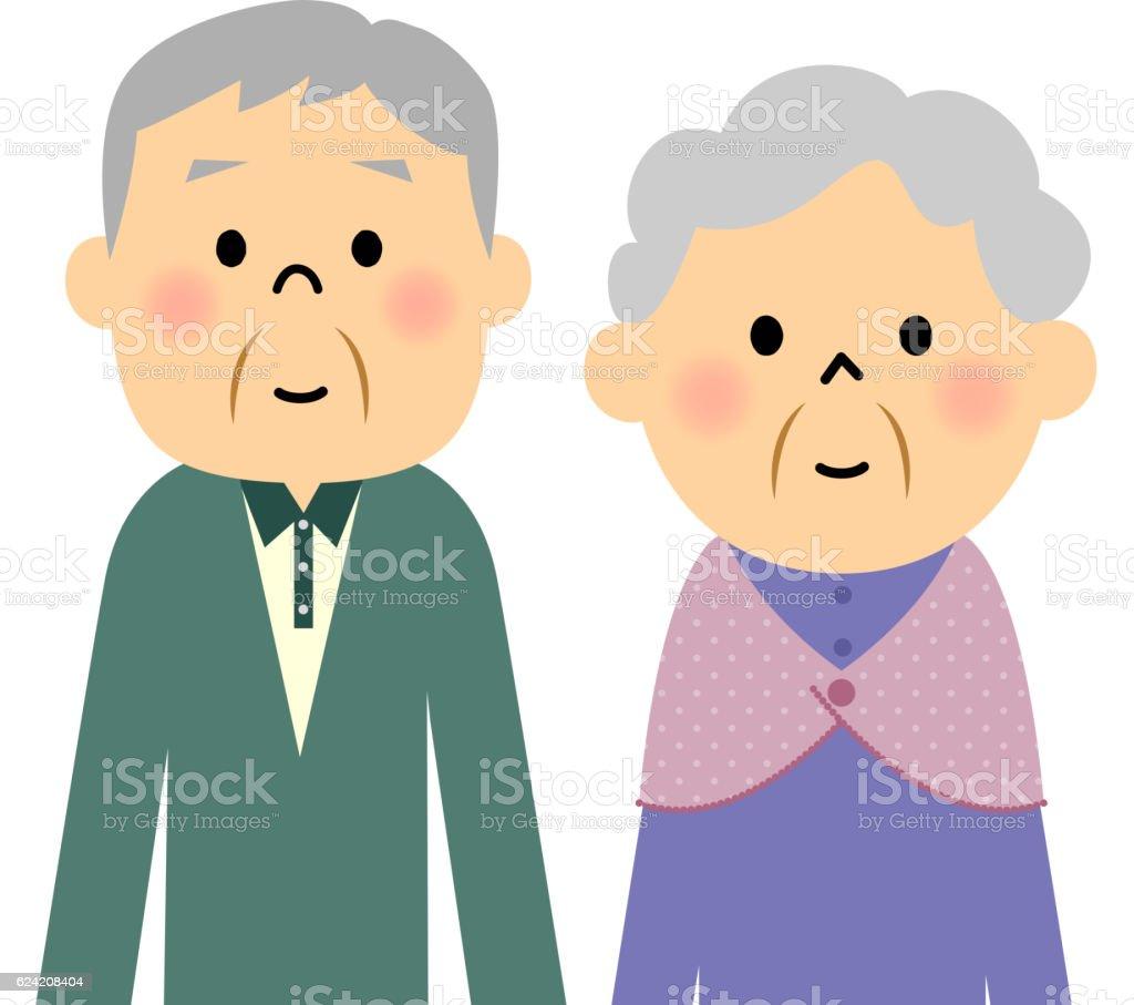 年配のカップル - すり寄せるのベクターアート素材や画像を多数ご用意