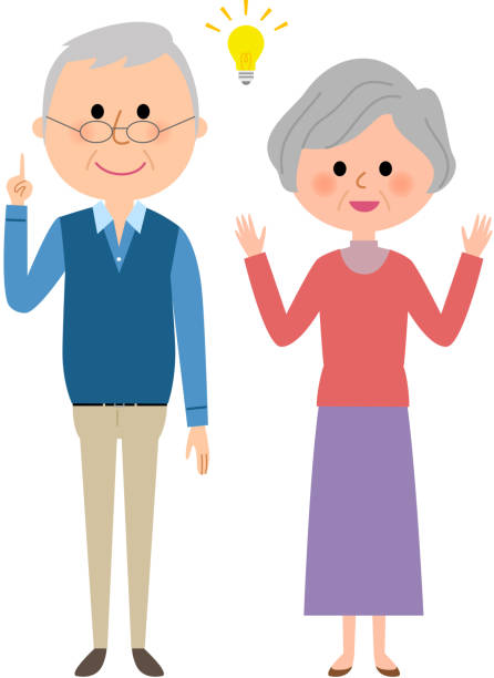 Best Senior Couple Illustrations, Royalty-Free Vector ...
