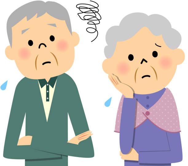 elderly couple,trouble - 主婦 日本人点のイラスト素材/クリップアート素材/マンガ素材/アイコン素材