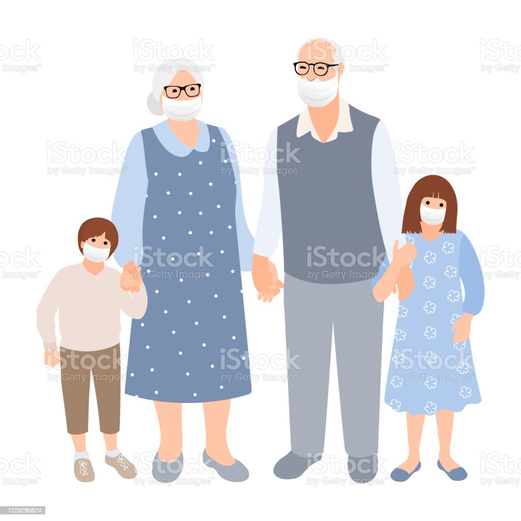 孫を持つ高齢の白髪のカップルは一緒に時間を過ごします家族のシルエット若いかわいい男の子と女の子と老婦人と男 アイコンのベクターアート素材や画像を多数ご用意 Istock