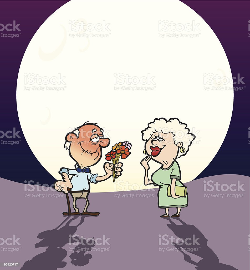 Elderly Love royalty-free elderly love stock vector art & more images of 65-69 years