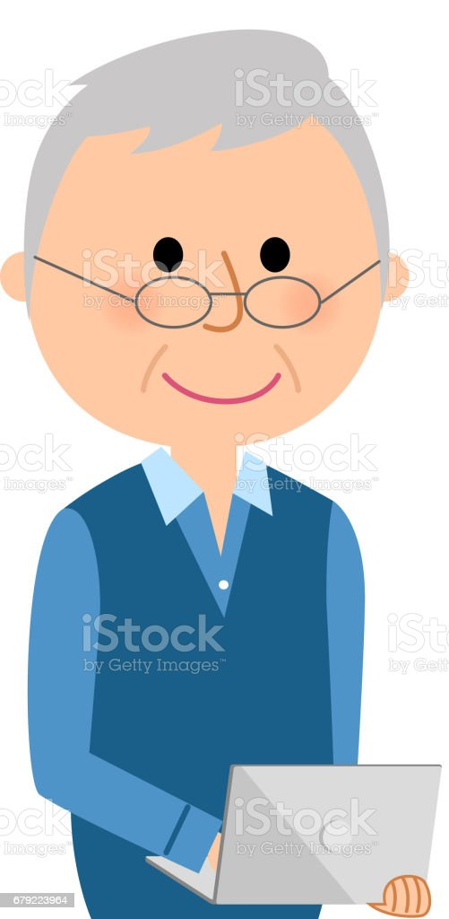 royalty free asia old man clip art vector images illustrations rh istockphoto com old person clipart Furneral Clip Art