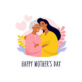 International Mother's day flat vector illustration.