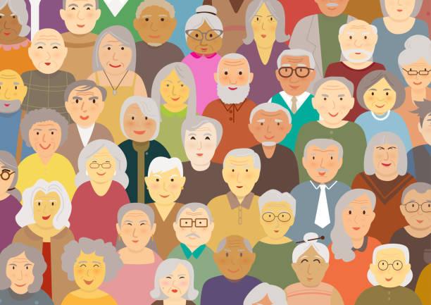 elderly people - starsi mężczyźni stock illustrations