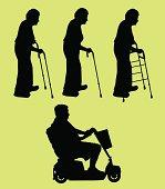 Elderly People ( Vector )