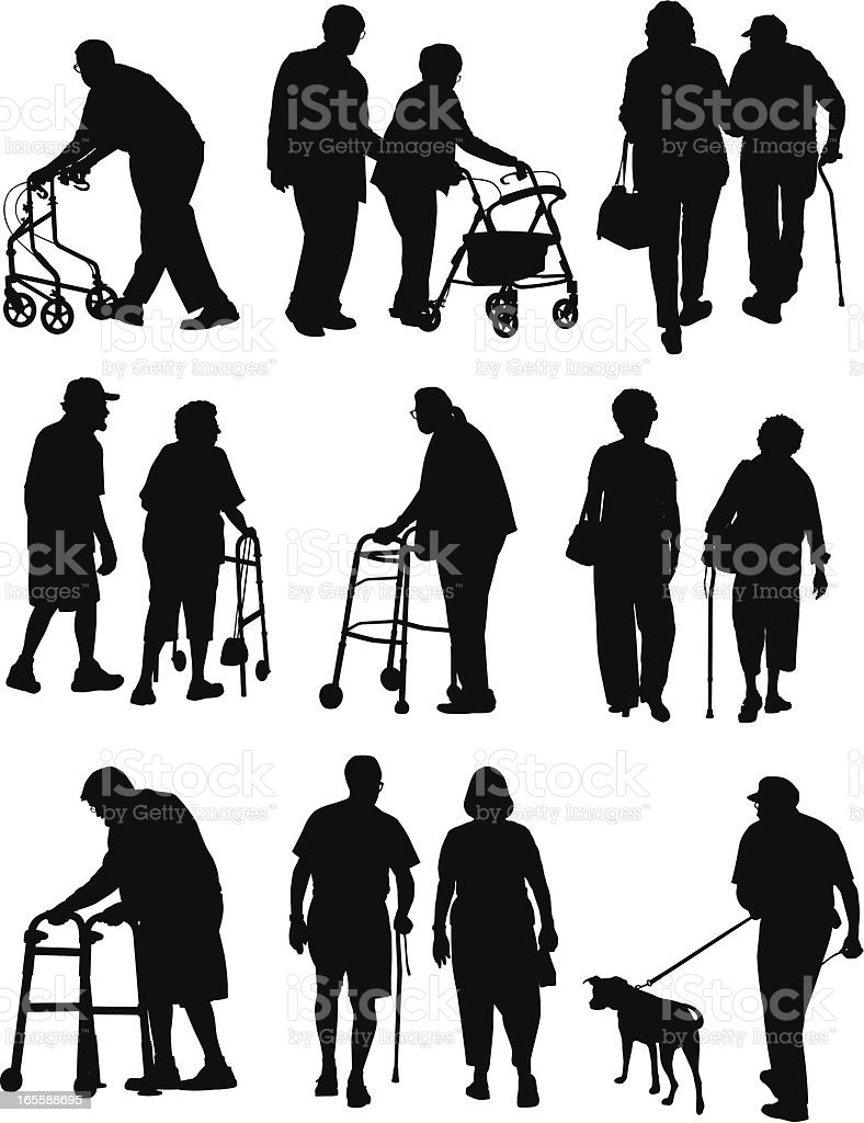 Elderly People royalty-free stock vector art