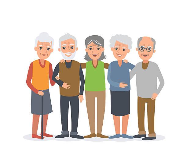 bildbanksillustrationer, clip art samt tecknat material och ikoner med elderly people - medelålders