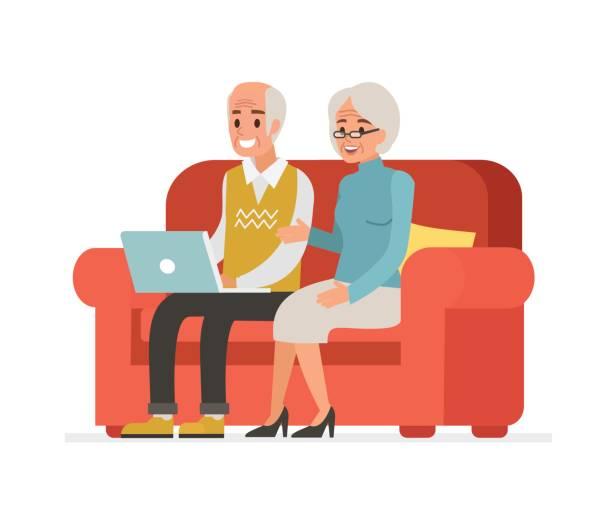 bildbanksillustrationer, clip art samt tecknat material och ikoner med äldre människor - medelålders