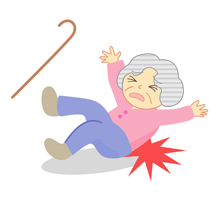 Elderly people who fall and get injured