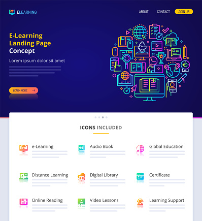 E-Learning Home Page Design Concept.