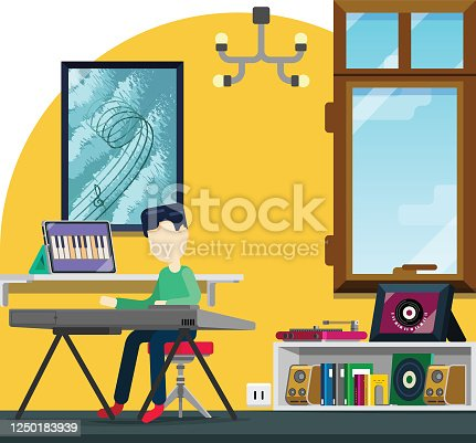 istock E-learning music instrument from home, child learning piano 1250183939