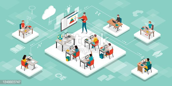 istock E-learning, online education and virtual classroom 1243322747