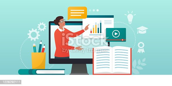 istock E-learning platform and distance learning 1226292111