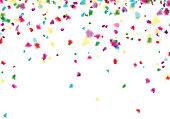 Ð¡elebration background with blurred  confetti. Vector Illustration.