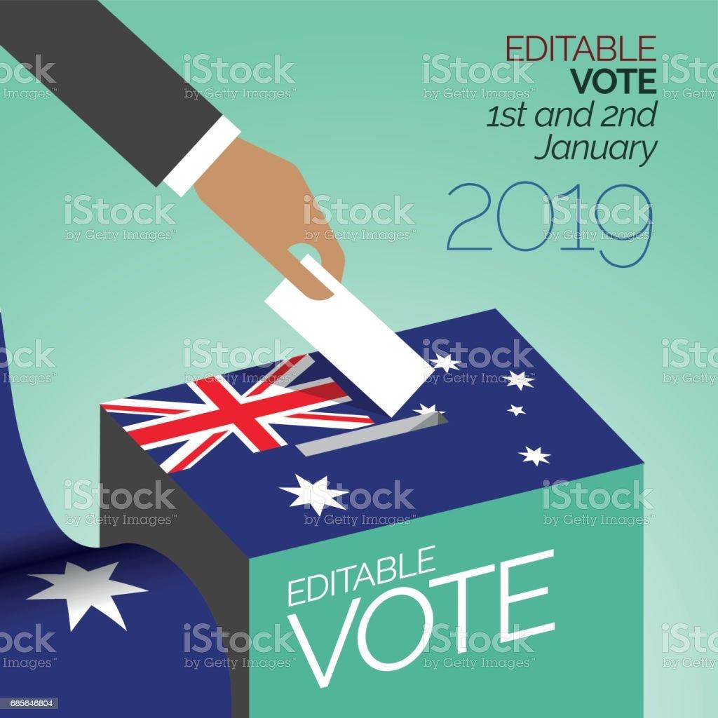 選舉 2017年投票框澳大利亞 免版稅 選舉 2017年投票框澳大利亞 向量插圖及更多 亞洲 圖片