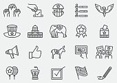 Election and Politics Line Icons