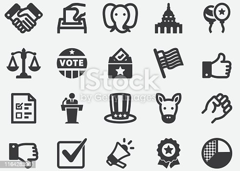 Election and Politics Silhouette Icons