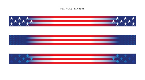 USA Election Banners stock illustration. USA Flag Banners vector illustration