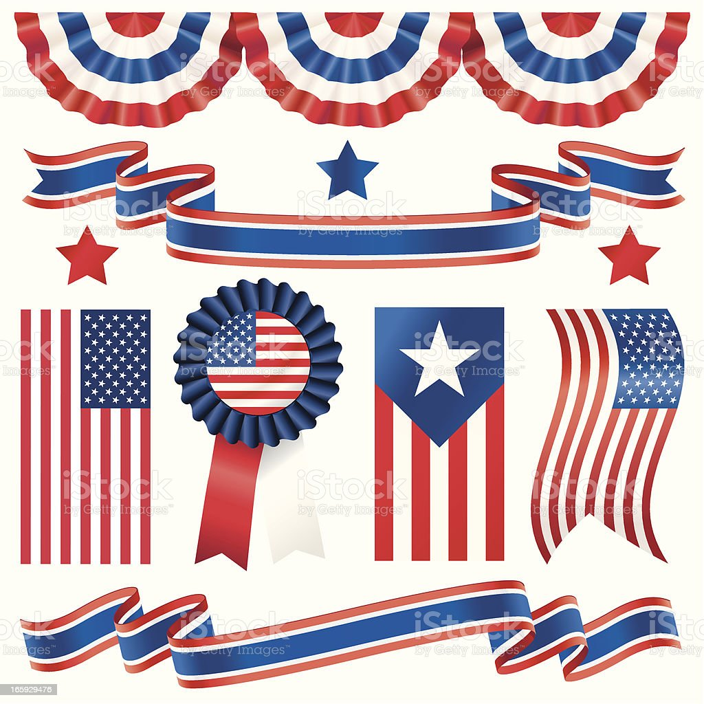 USA Election Banners vector art illustration