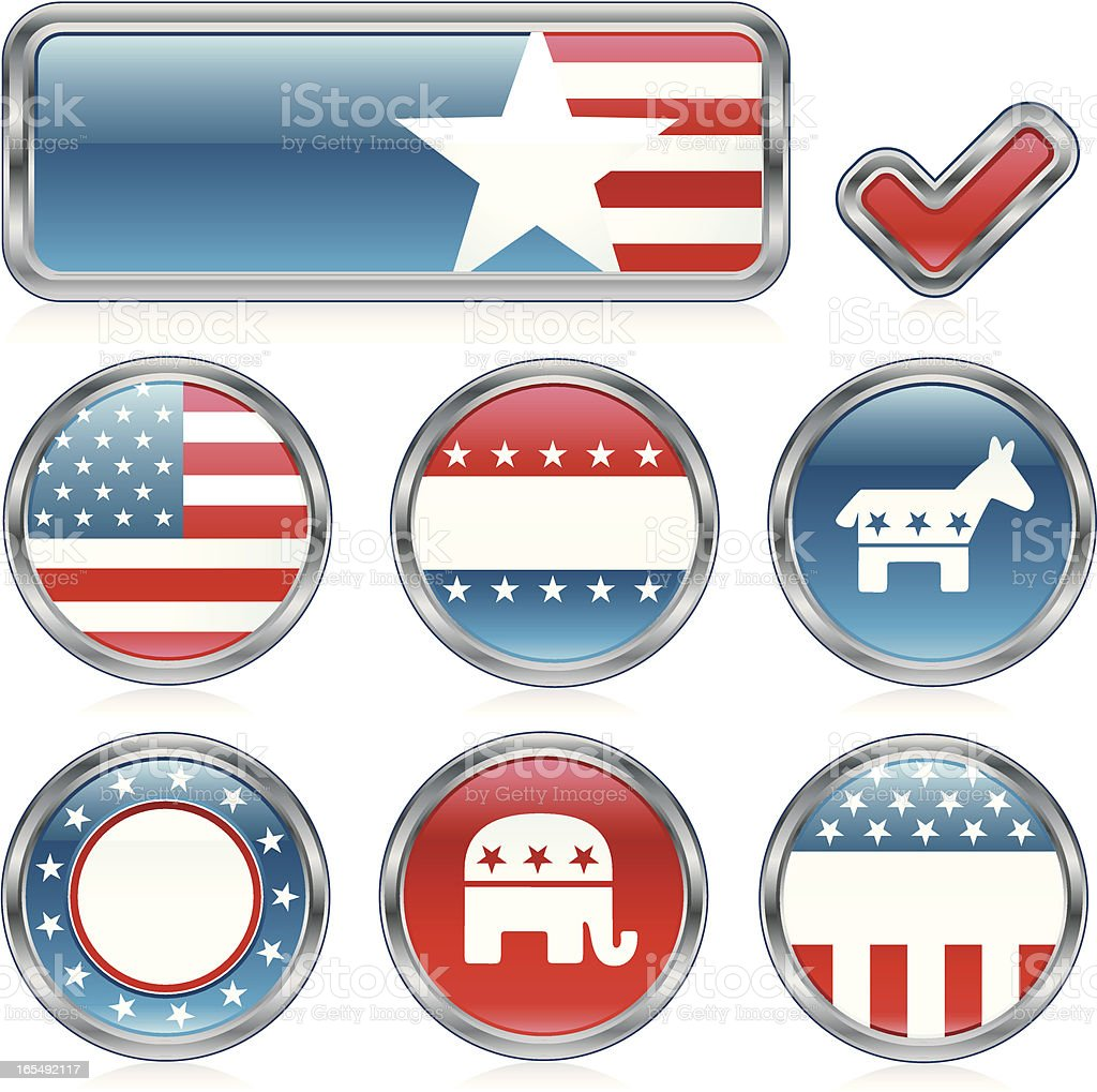 USA election campaign badges and banner royalty-free usa election campaign badges and banner stock vector art & more images of badge