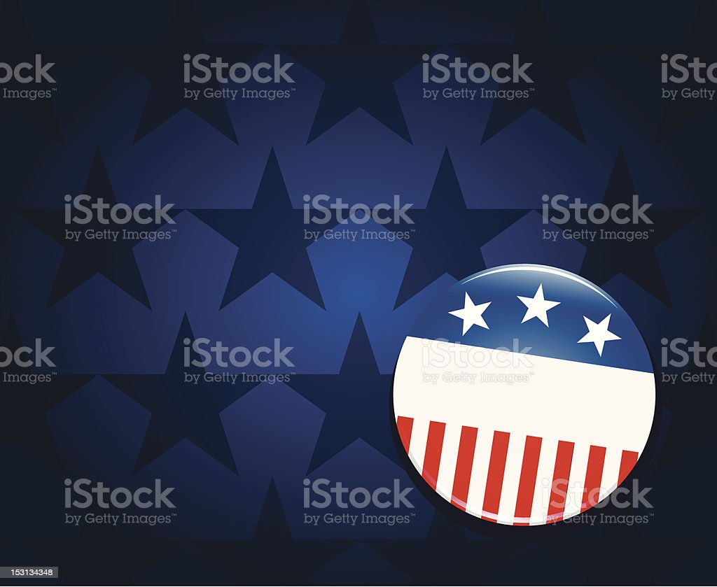 Election campaign button background royalty-free stock vector art