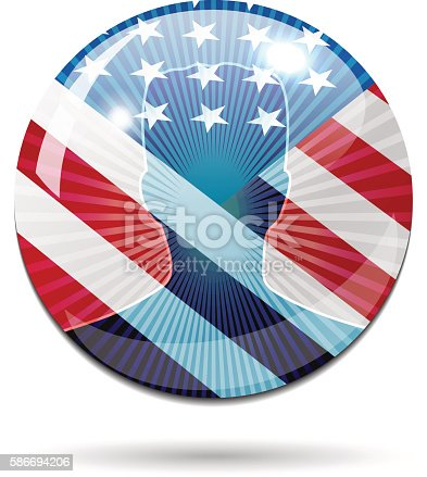 istock USA election candidate on glossy sphere with American flag 586694206