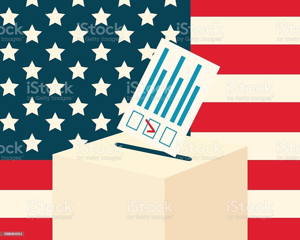 USA election concept vector art illustration