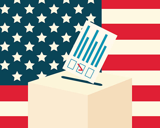 USA election concept vector art illustration