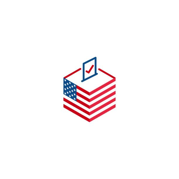 2020 election day in usa, voting president. vector icon template - ballot stock illustrations