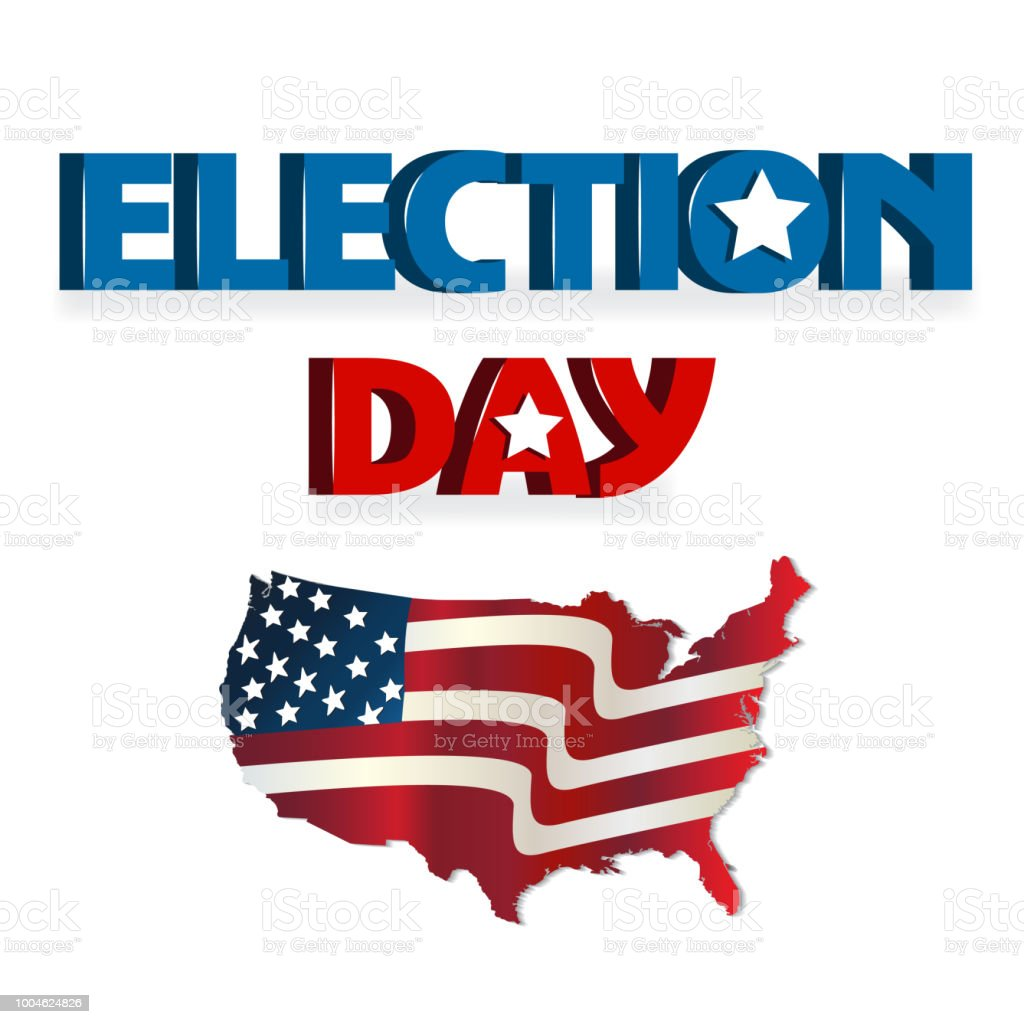 Election Day Usa Map Icon Logo Vector Image Stock Vector Art More