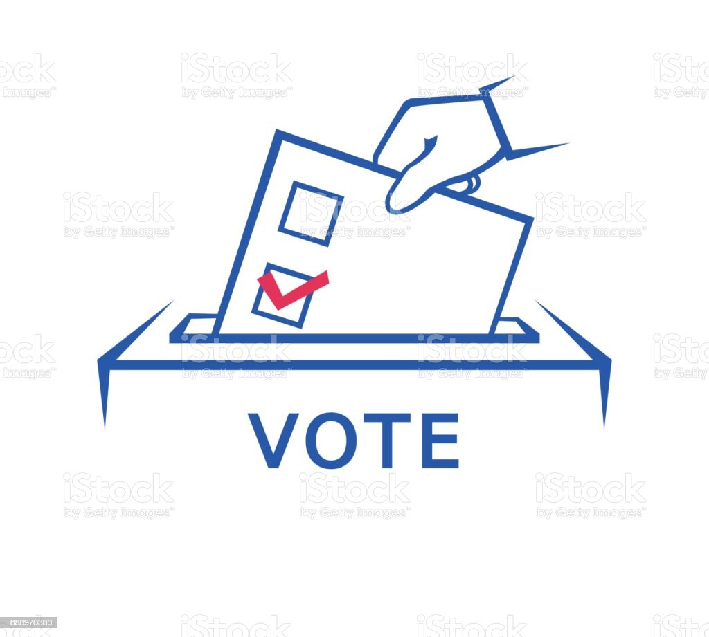 Election day vector art illustration