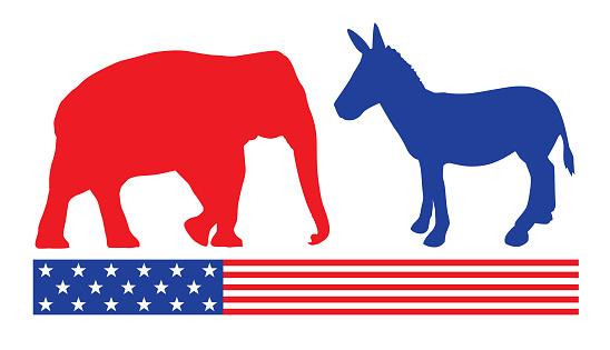 Election Donkey And Elephant Icon