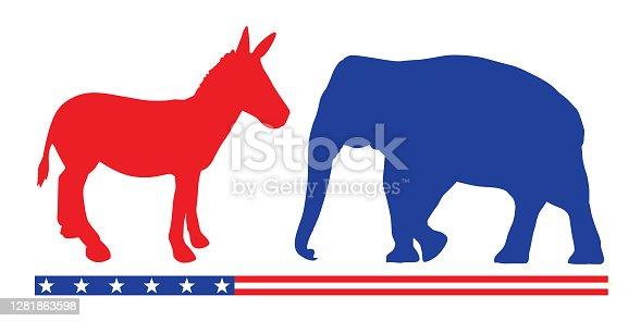Election Donkey And Elephant