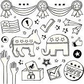 An election/political doodle page.
