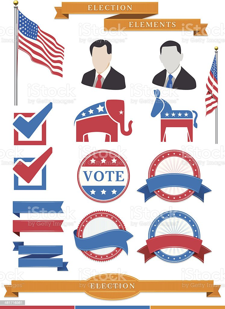 Election Elements royalty-free stock vector art