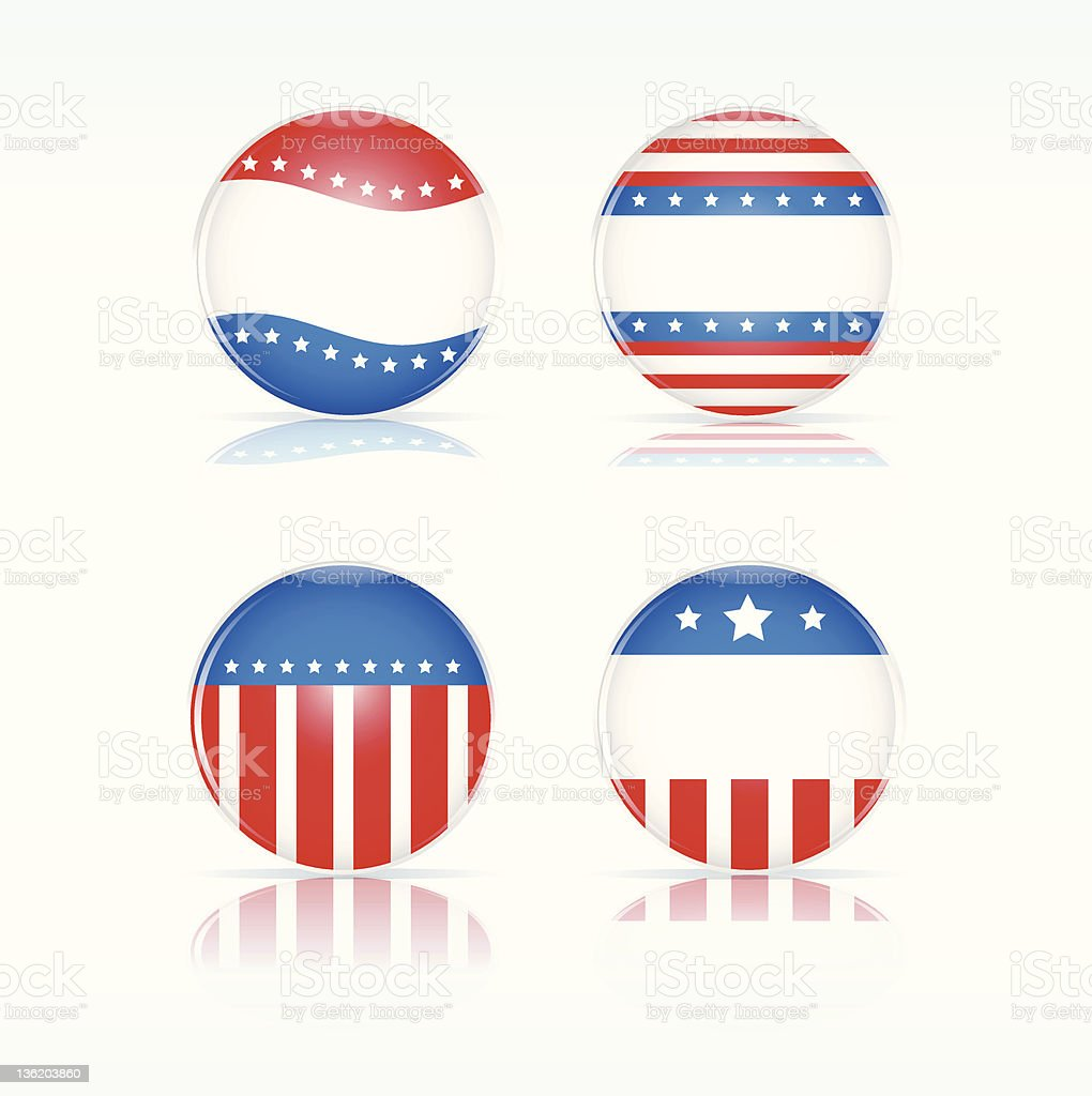 Election glossy badges royalty-free stock vector art